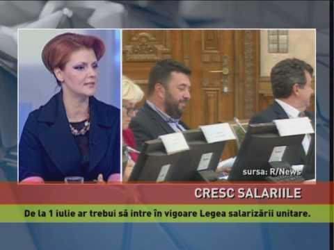 Lia Olguța Vasilescu anunță măsuri de creștere a salariilor, de la 1 iulie