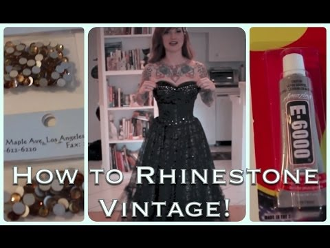 cherry dollface - Ever wanted to jazz up a vintage frock? Find out a quick and easy way here! Intro and Outro song: Red Headed Woman by Deke Dickerson XOXO Cherry Dollface CherryDollface.com http://www.facebook.co...