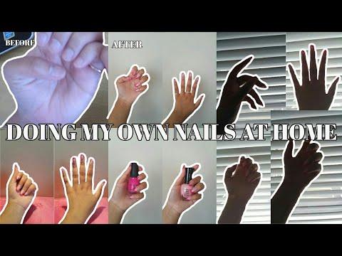 Doing My Own Nails At Home l Mellisa Oentardi