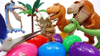 Video Let's Open Surprise Eggs With Good Dinosaur~! MP3, 3GP, MP4, WEBM, AVI, FLV Juli 2018