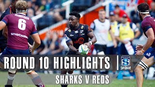 Sharks v Reds Rd.10 2019 Super rugby video highlights | Super Rugby Video Highlights