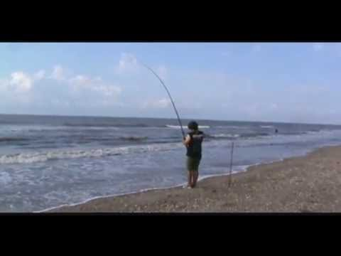 Fishing the Texas Surf for Bull Reds – summer 2012
