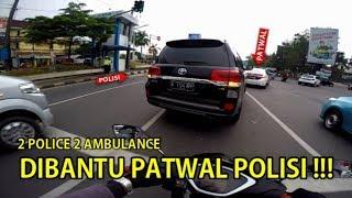 Video DIBANTU PATWAL POLISI 2 AMBULANCE SEKALIGUS | ESCORTING EMERGENCY AMBULANCE #19 MP3, 3GP, MP4, WEBM, AVI, FLV Maret 2019
