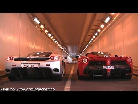 laferrari vs ferrari enzo - insane rev battle!