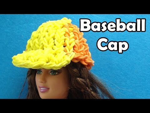 Rainbow Loom Baseball Hat / Cap / Beanie for Barbie Doll made with Loom Bands