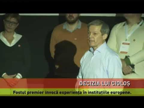 Dacian Cioloș, candidat la europarlamentare