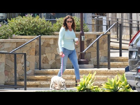 Caitlyn Jenner Takes Her Pooch And Purple Porsche Out In Malibu
