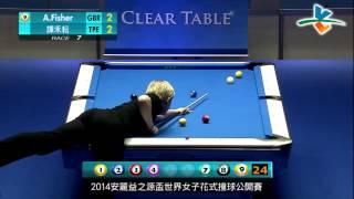 ThailandBilliards.com - A. Fisher Vs H.Y. Tan - 2014 Amway Espring Women's World 9 Ball Open