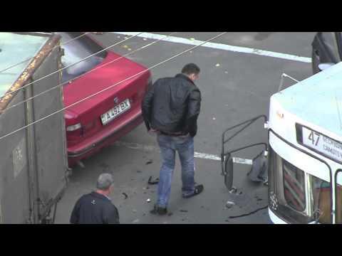 Авария 3 машины во время съемок