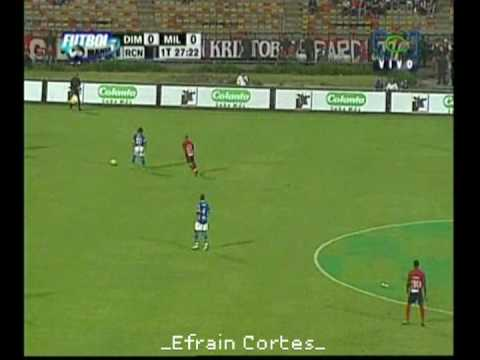 Efraín Cortés en los Millonarios de Colombia.