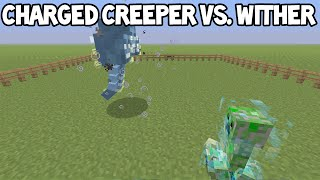 Minecraft (Xbox360/PS3) - Charged Creeper VS. Wither Boss!