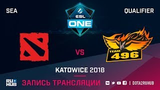 PG Barracx vs 496 Vikings, ESL One Katowice SEA, game 1 [Mila, LighTofHeaveN]