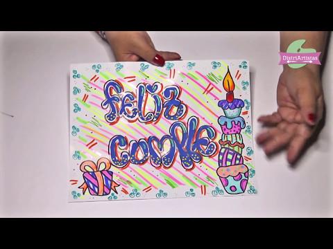 Tarjetas de cumpleaños - Tarjeta de cumpleaños en letra Timoteo DIY manualidades