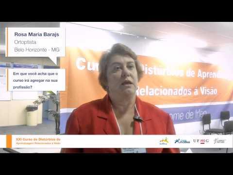 Ortoptista Rosa Maria Barajas (BH) – XXI Curso DARV – Out de 2013