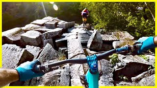 We are almost literally mountain biking in a graveyard. These Millstone MTB Trails in Barre Vermont are built around abandoned granite quarries. The Barre Granite mined from these quarries is some of the highest quality granite in the world and use commonly for gravestones. This is by far one of the most unique mountain bike rides I've ever been on. The Single Track Sampler, Hailey and myself were all challenged by the features on these MTB trails.Dynaplug Tire Plug ▶︎ http://amzn.to/2vBMXttSNES = New England Sampler Taking the Single Track Sampler around the best mountain bike destinations in the North East / New England area!https://www.youtube.com/playlist?list=PLKhb73W7eMRGmSBEw79n9BorjnxQoFi8JSUBSCRIBE ▶︎ https://goo.gl/xu5U0hPatreon Community ▶︎ https://goo.gl/8SHpPFMy riding & film Gear ▶︎ https://goo.gl/9LrYtRMTB Park Pass  ▶︎ https://mtbparks.com/Promo code - SkillsWithPhil Single track Sampler ▶︎ https://www.youtube.com/channel/UCfUGBBnxQYezwJM9wi3F-LgHailey  ▶︎ https://www.youtube.com/c/haileysarauskyInstagram ▶︎ https://www.instagram.com/philkmetz/Facebook ▶︎ https://www.Facebook.com/philkmetz/Most Recent ▶︎ https://goo.gl/10Kw6d8 Simple MTB Tricks ▶︎ https://www.youtube.com/watch?v=Uuyn7A1Yb8A&list=PLKhb73W7eMRH_Ov7BeDivctjXAD2bTsOJ&index=18 Fun MTB Tricks ▶︎ https://www.youtube.com/watch?Walmart Bike Torture Test ▶︎ https://youtu.be/wkMnk_eCDQU?list=PLKhb73W7eMREOqKUAP4u-qXKzvgUy0zGWEvil Calling ▶︎ https://www.youtube.com/watch?v=5irX8yVn0uw&list=PLKhb73W7eMREOqKUAP4u-qXKzvgUy0zGW&index=2