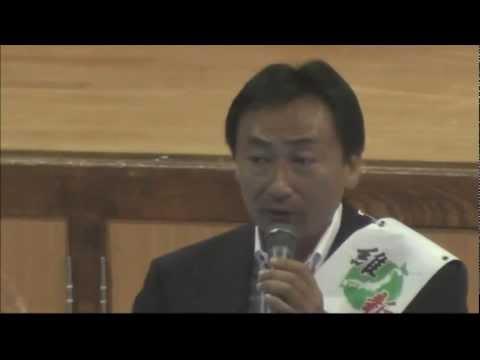 東とおる 岸里小学校個人演説会 2013.07.14