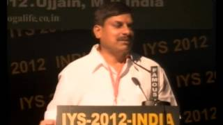 Dr Mohan Yadav - Chief Guest of IYS-2012 Closing Ceremony