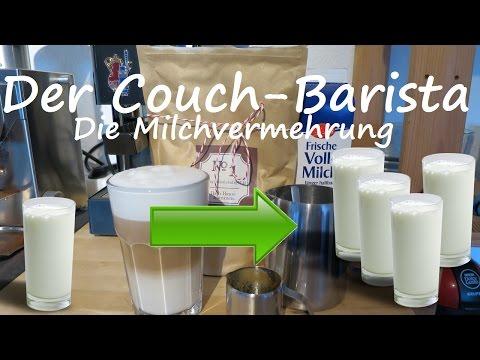 Wie man ein Glas Milch verdreifacht - Der Latte macchiato