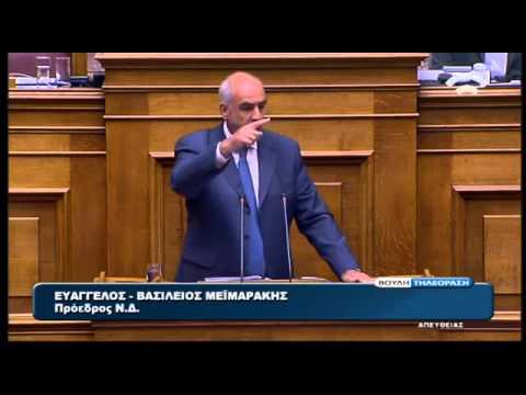 Ευ. Μεϊμαράκης: Το πρώτη φορά αριστερά σύντομα θα γίνει τελευταία φορά αριστερά