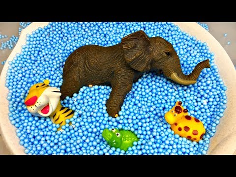 Learn Colors with Animals and Farm Surprise Toy for Kid Child with Foam Beads