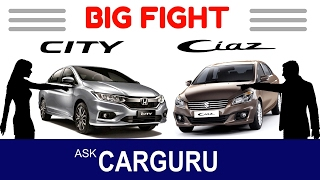 Suzuki Ciaz vs Honda City, like Maruti Suzuki vs Honda, its as hot as expected, both are ? wait please watch full video without fast- forword, its hot. Corre...
