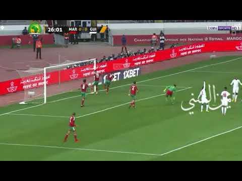العرب اليوم - شاهد : الهدف الأول للمنتخب المغربي في مرمى غينيا