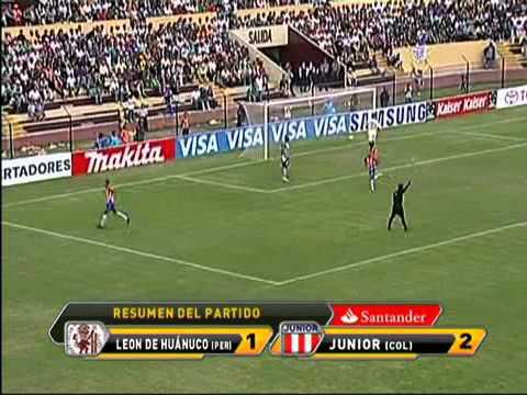 Leon de Huanuco vs Junior (1-2) Copa Libertadores 2011