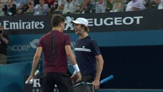 Thanasi Kokkinakis and Jordan Thompson defeated Gilles Muller and Sam Querrey in straight sets to win the Men's Doubles at the Brisbane International 2017
