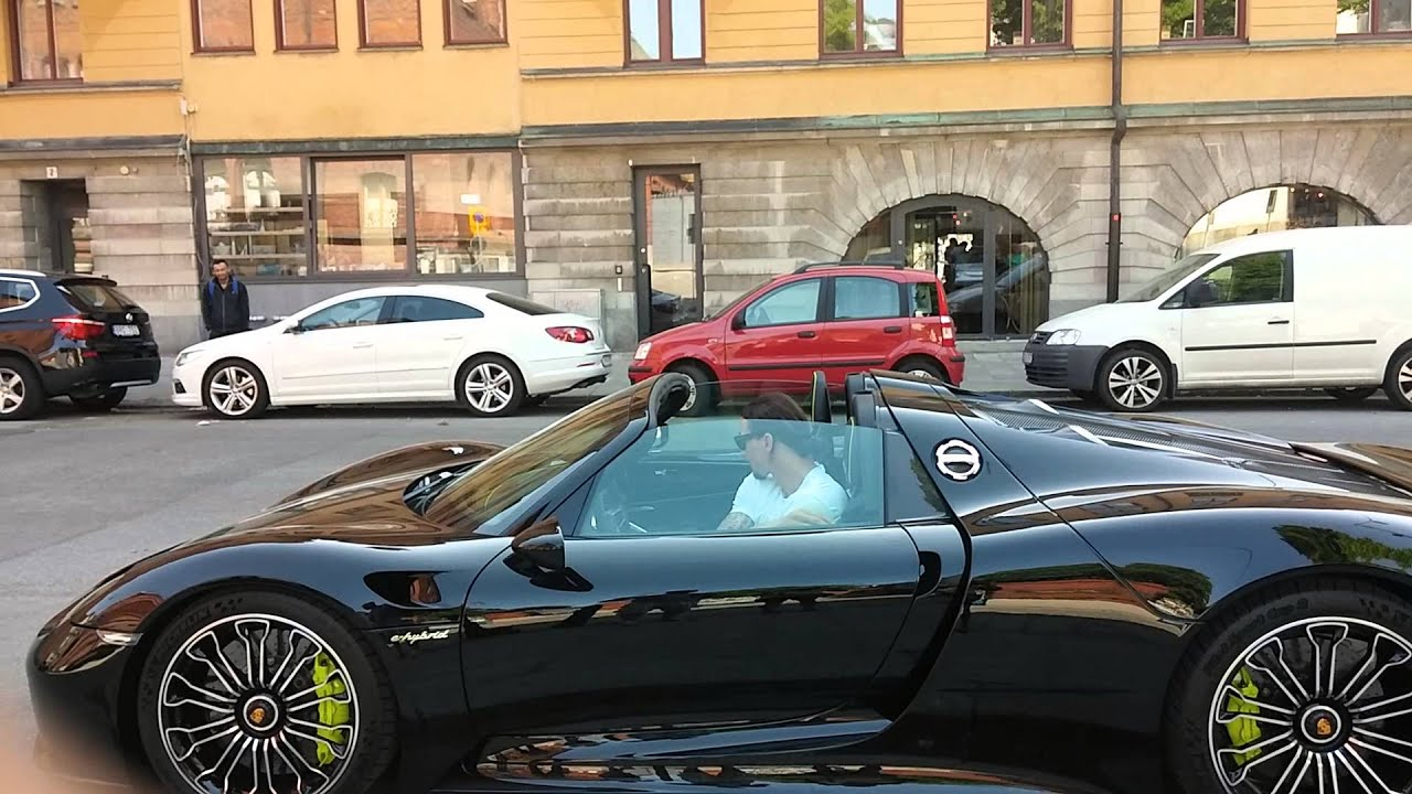zlatan provk r porsche 918 spyder i stockholm autonytt. Black Bedroom Furniture Sets. Home Design Ideas