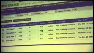 Demonstration of Workload Allocation Management Service (WAMS)
