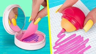 Download Video 11 DIY Weird School Supplies You Need To Try / School Pranks And Life Hacks MP3 3GP MP4