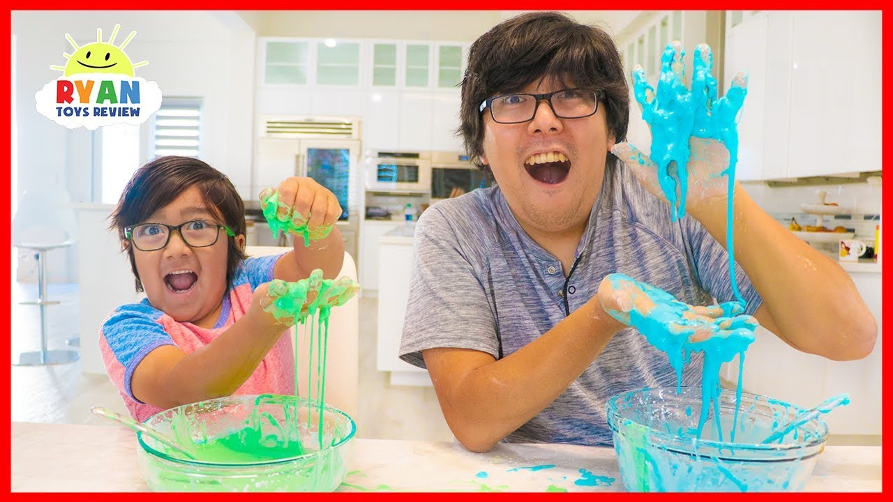 How to Make OOBLEK! DIY Slime at Home with Ryan!!! - YouTube