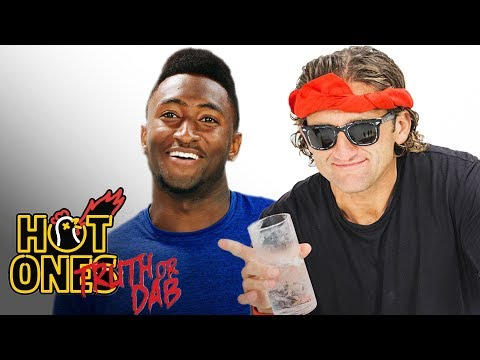 Marques Brownlee and Casey Neistat Play Truth or Dab   Hot Ones