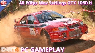 Dirt 4 pc gameplay on ultra settings @ 4K. 1080 Ti GTX + 7700K Kaby Lake fps frame rate pc performance benchmark video.