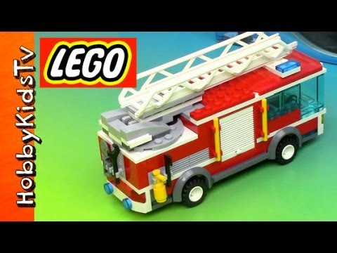 LEGO City Fire Truck – Box Opening, Build and Play (60002)