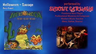 Simone Carnaghi performing Helloween - Savage (Bass cover)