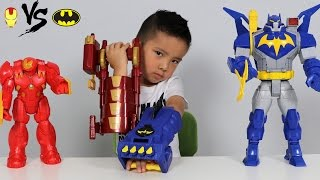 Video Batman Gauntlet Vs Iron Man Blaster Toys Unboxing With Ultimate Bat-Mech And Hulkbuster Ckn Toys MP3, 3GP, MP4, WEBM, AVI, FLV Juni 2017