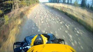 11. 2012 renegade xxc 1000 first ride/wipe out
