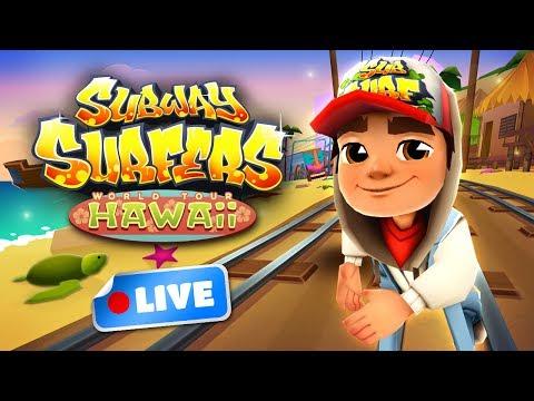 Subway Surfers World Tour 2017 - Hawaii Gameplay Livestream (видео)