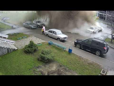 Авария в Барнауле на улице Балтийской