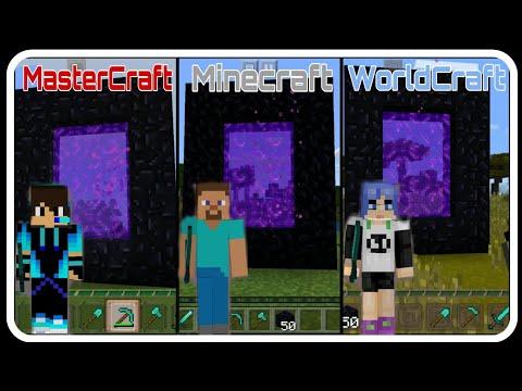 """""""Portal"""" - MasterCraft vs Minecraft vs WorldCraft - Survival Gameplay"""