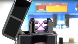 Plasmatic X vs Hydraulic Press - Tesla Coil Plasma Lighter