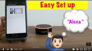 Simple instructions on setting up the Echo dot. Setting up the Amazon Echo dot is very easy. Just follow the simple instructions on how to set up the echo dot. Echo dot easy set up.
