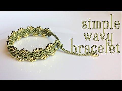 favoloso braccialetto ondulato in macramè