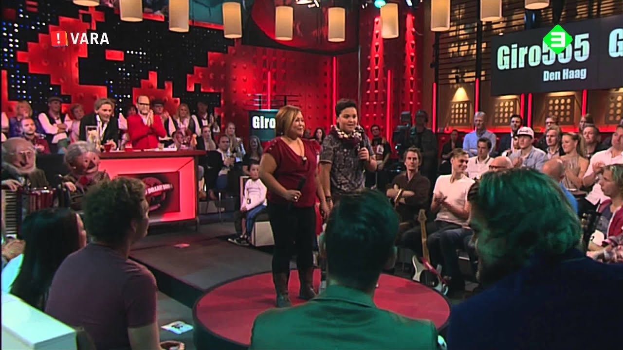 Kim and Mabel Regasa singing Ako Ay Pilipino at tv show in Holland.