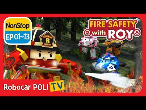 🔥Fire safety with Roy | EP01 - 13 | Robocar POLI | Kids animation (видео)