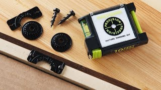https://www.thegrommet.com/precision-picture-hanging-kitThis set has all the picture hanging hardware you need—and makes putting up art or photos an altogether easier process. The Precision Picture Hanging Kit takes the multiple holes, marks, and endless adjustments out of the decorating equation. And it even protects your walls once your pictures are up. The two-part locking system is the key to fuss-free, just-right placement. The anchor screws into the back of what you want to hang—like frames, mirrors, or other décor. It locks with the adhesive-backed wall hanger, which temporarily sticks to the wall while you find the perfect spot. It stays stuck until you're ready to permanently screw it in. After your artwork is hung, bumpers prevent it from shifting and protect your walls, too. It works with various hangers, like d-rings, keyholes, sawtooth, and wire, and it can handle up to 50 pounds. Now there's no need for a hammer and nails. And no need for guesswork and wall-wounding adjustments. You'll get a perfect placement, every time.