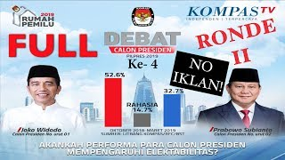 Video FULL LIVE DEBAT Keempat Capres Pilpres 2019 - Jokowi & Prabowo - MP3, 3GP, MP4, WEBM, AVI, FLV April 2019