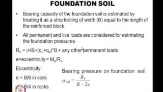 Mod-01 Lec-12 External Stability Analysis Of Reinforced Soil Retaining Walls