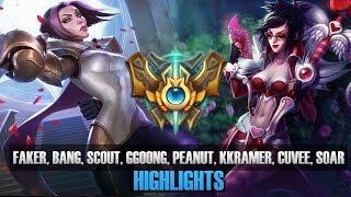 Highlight cao thủ Rank Hàn đại chiến (P6): Faker, Bang, Scout, Ggoong, Peanut, Kkramer, Cuvee, SoaR